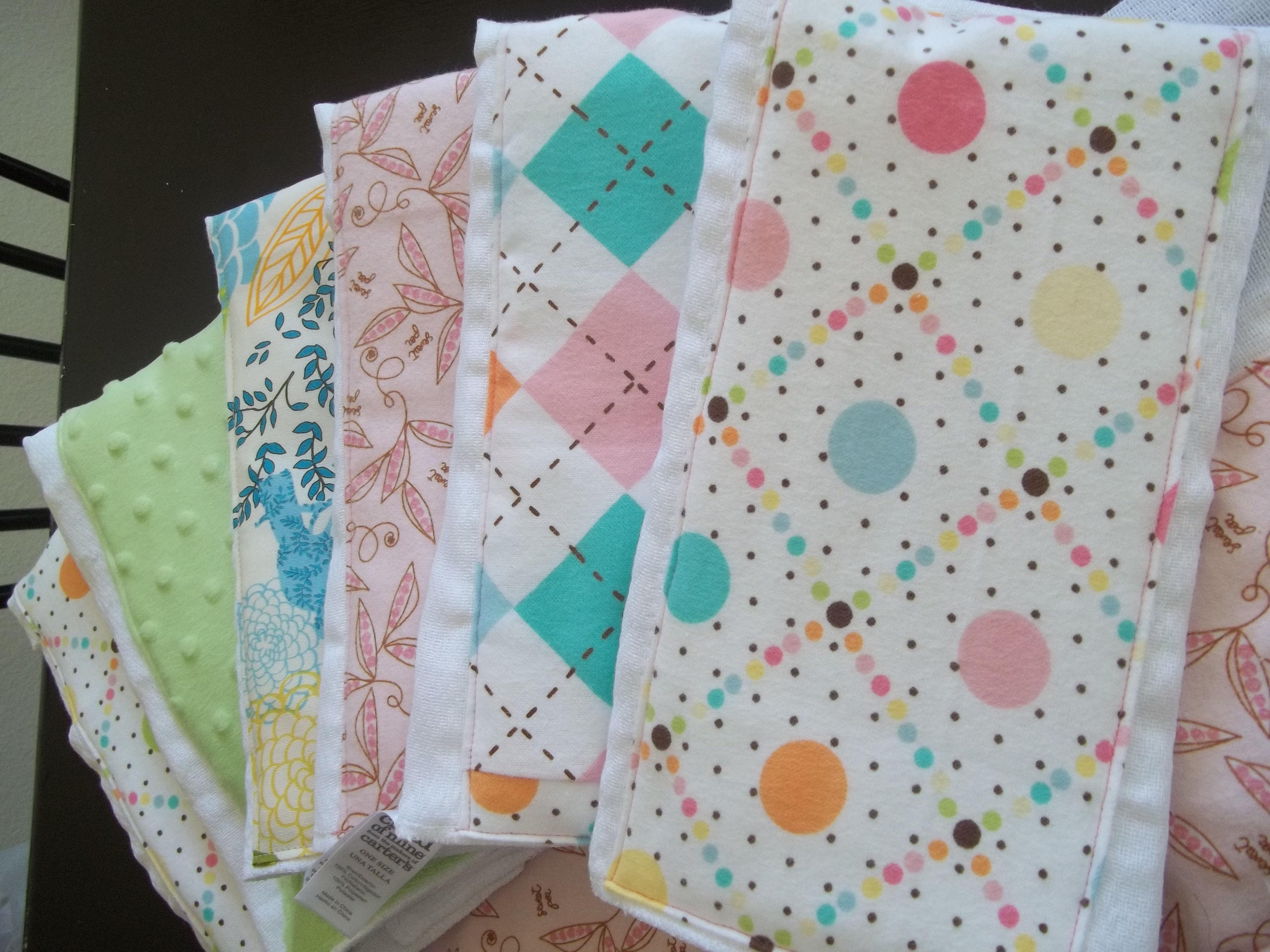 Handmade Baby Blankets Burp Cloths And Loveys His And Hers