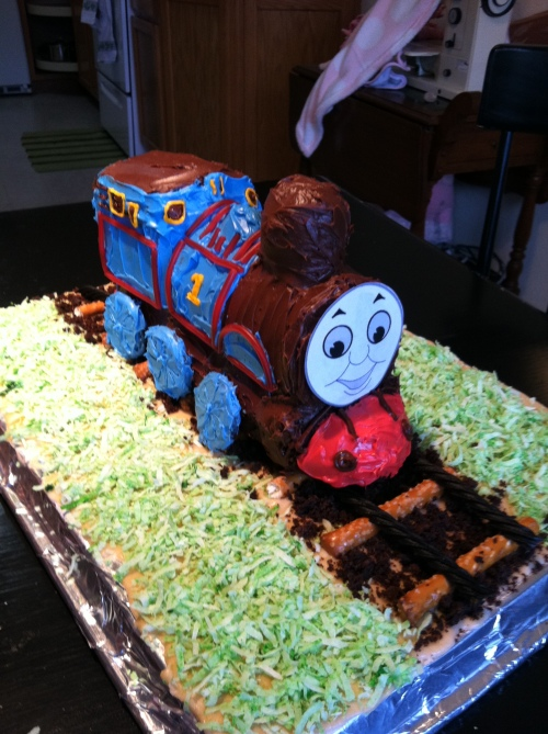 Thomas The Train Birthday Cake His And Hers Homesteading